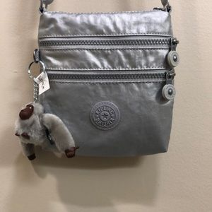 Kipling silver cross body bag